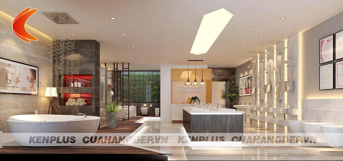 Dự án thiết kế showroom trưng bày thiết bị vệ sinh phong cách hiện đại