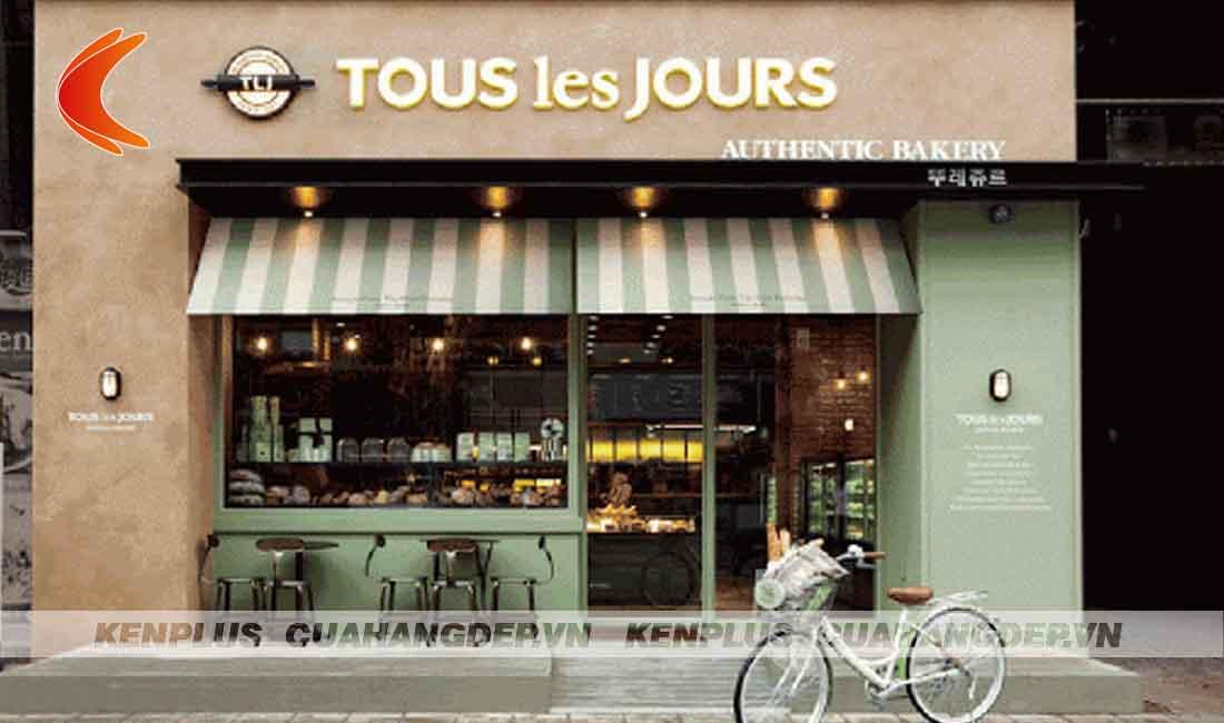 Mẫu thiết kế tiệm bánh Tous Les Jour