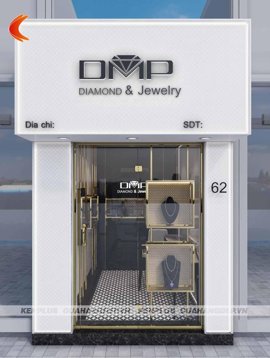 Thiết kế cửa hàng trang sức 5m2 Diamond and Jewelry tại Hà Nội