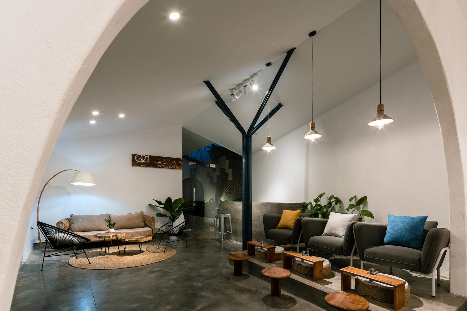 thiết kế cửa hàng spa