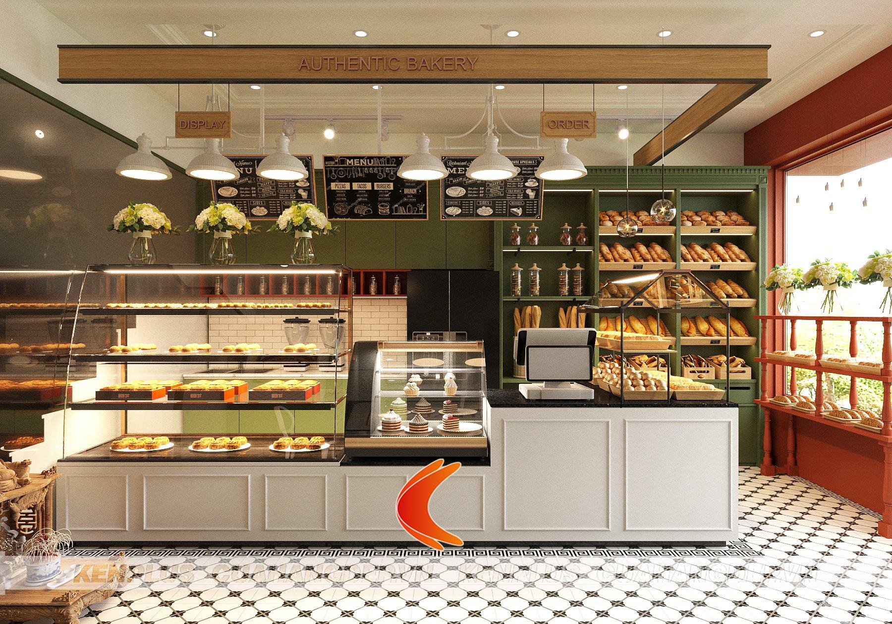 Mẫu thiết kế cửa hàng bánh Le Gateau phong cách tân cổ điển
