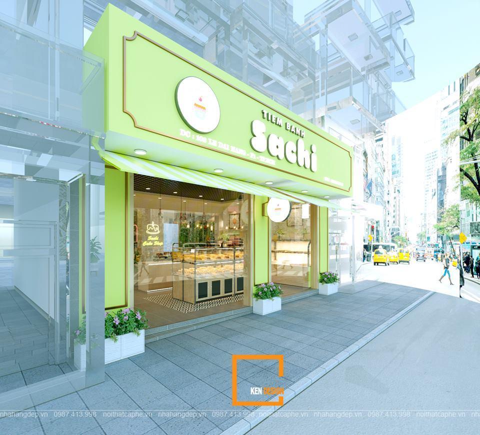Mẫu thiết kế tiệm bánh Sachi dễ thương