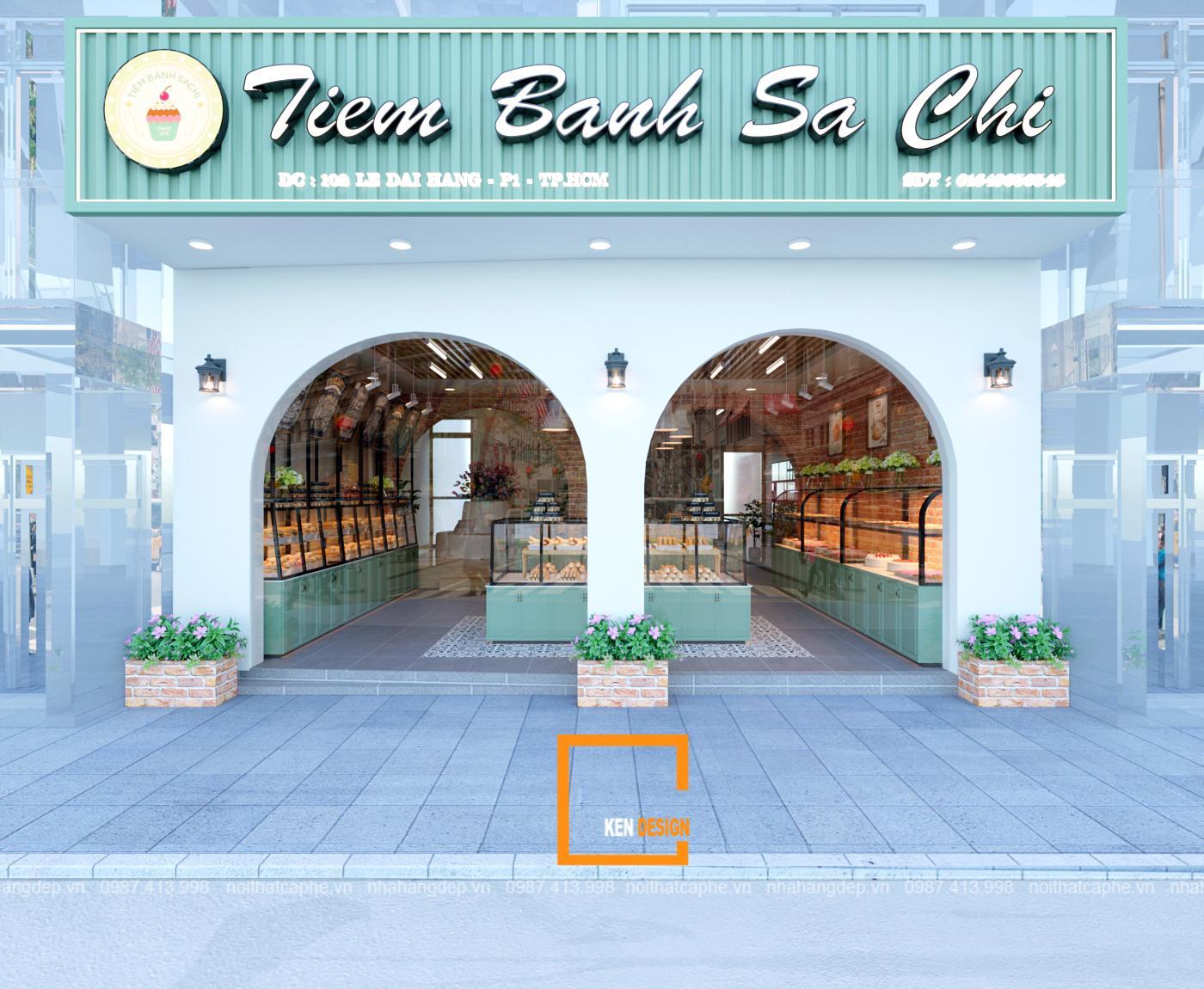 Mẫu thiết kế tiệm bánh Sachi tại Mỹ Tho