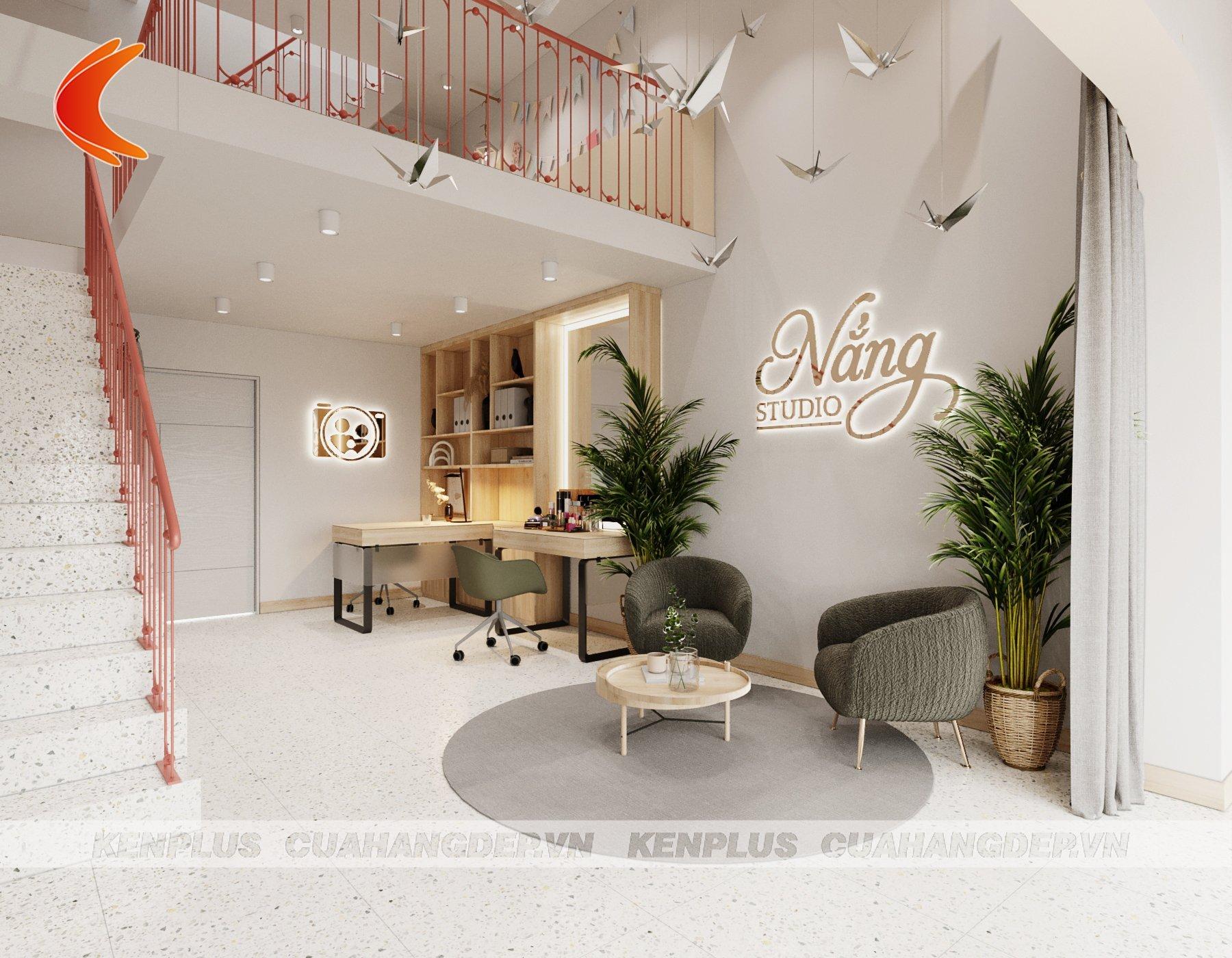 thiết kế tầng 1 Nắng Studio