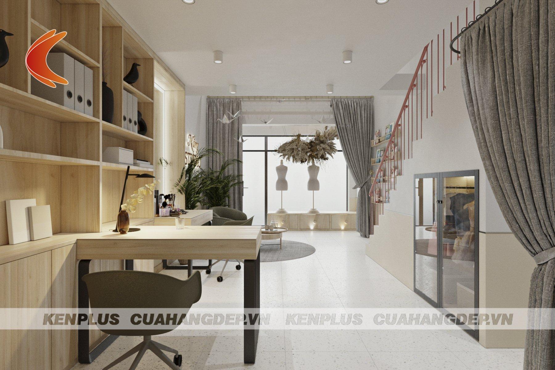 thiết kế phòng làm việc tại Nắng Studio