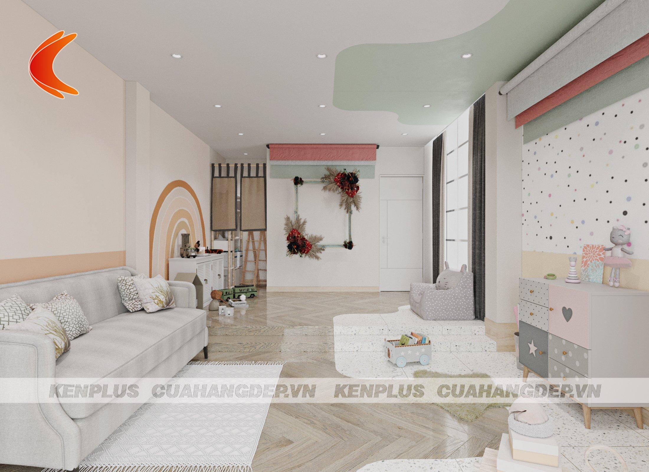 thiết kế tầng 2 nội thất linh động từng góc hình