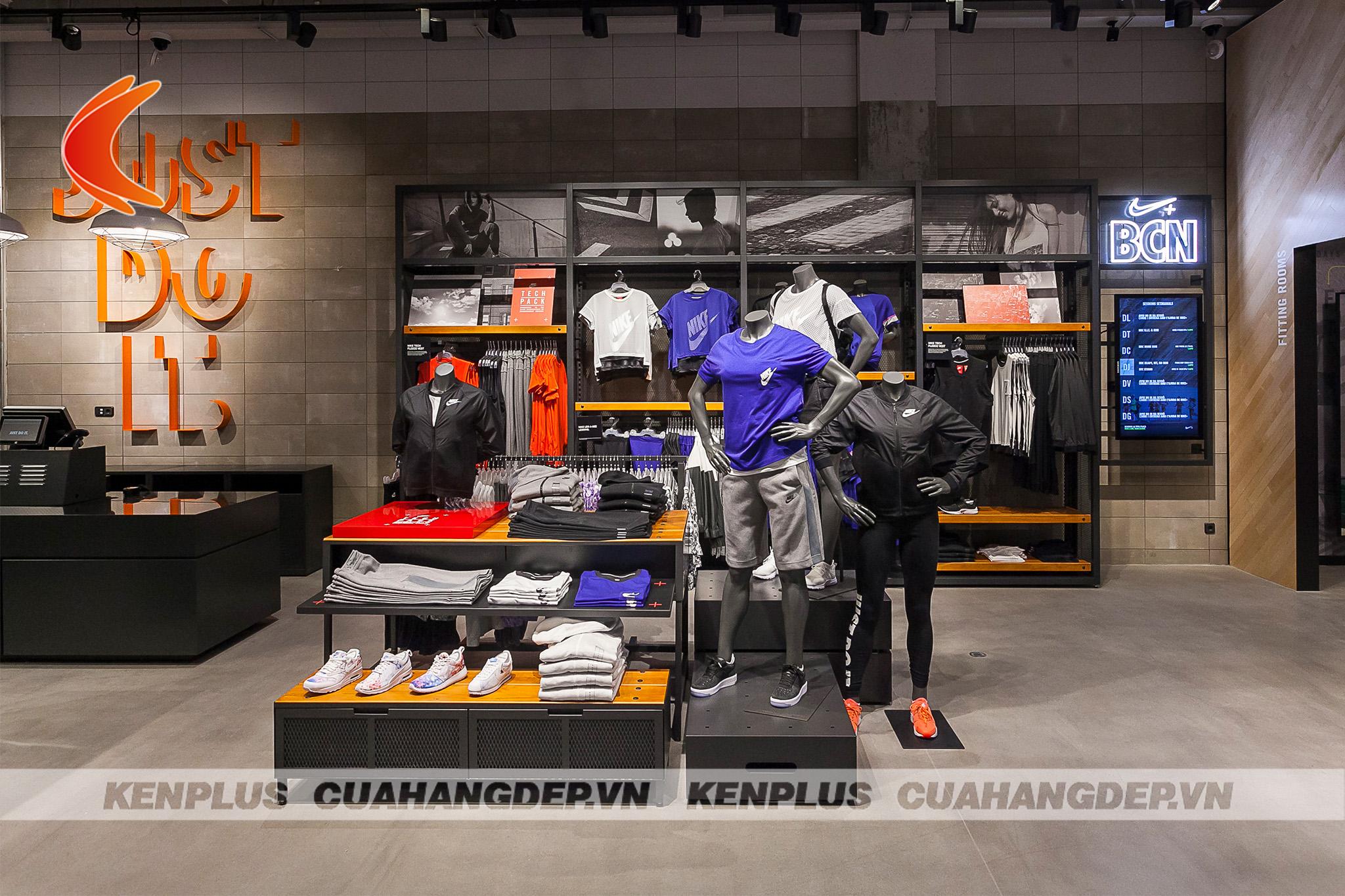 Các mẫu cửa hàng quần áo thể thao cho mọi nhu cầu thiết kế