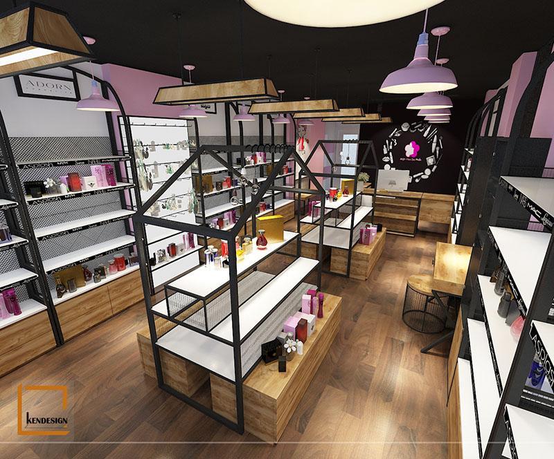Mẫu thiết kế cửa hàng mỹ phẩm Mặt Hoa Da Phấn cơ sở Chùa Bộc