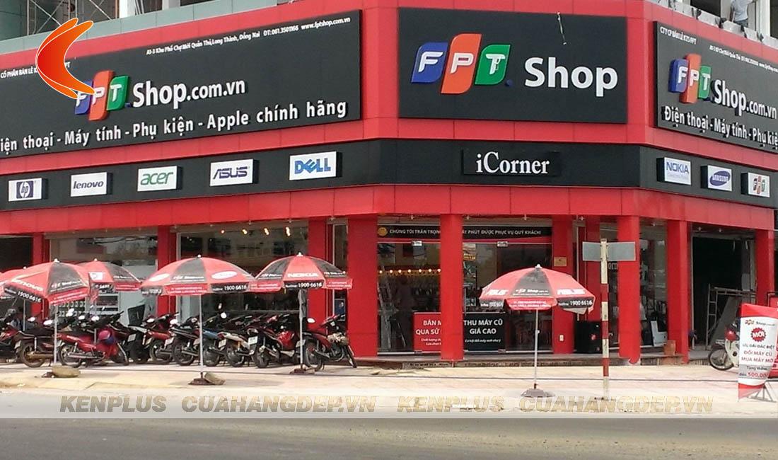 Mẫu thiết kế shop FPT - chuyên điện thoại, máy tính, phụ kiện