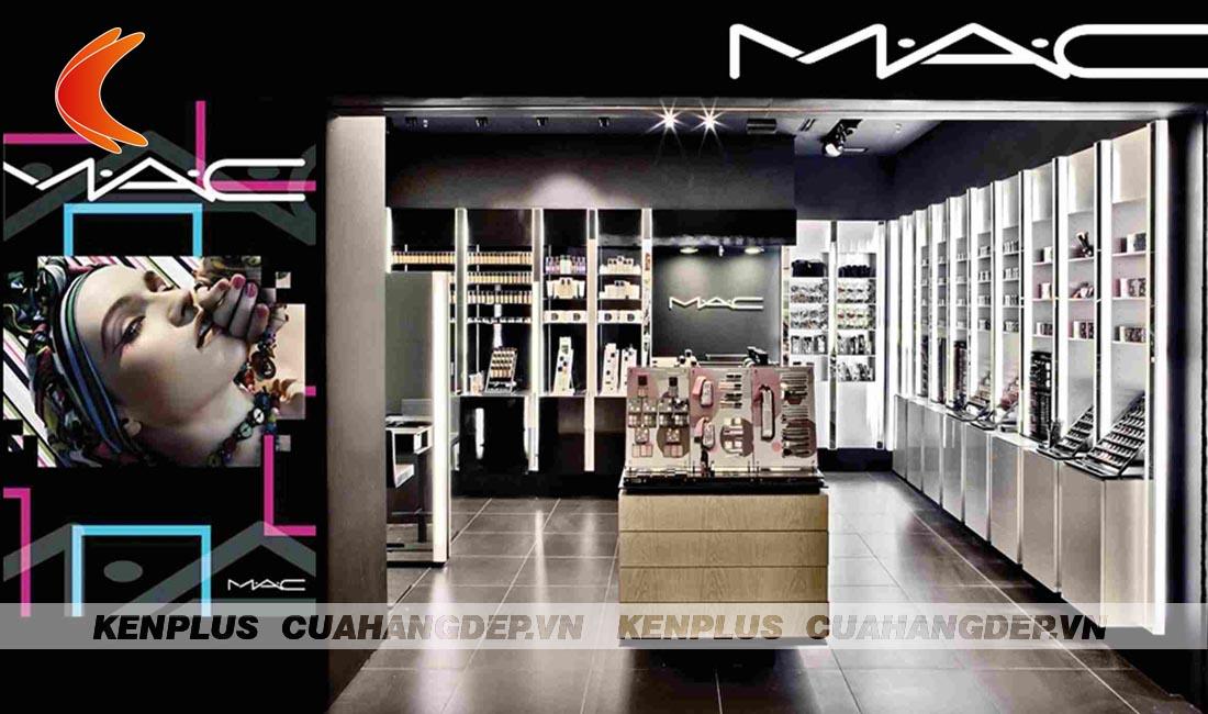Mẫu thiết kế shop mỹ phẩm cao cấp MAC