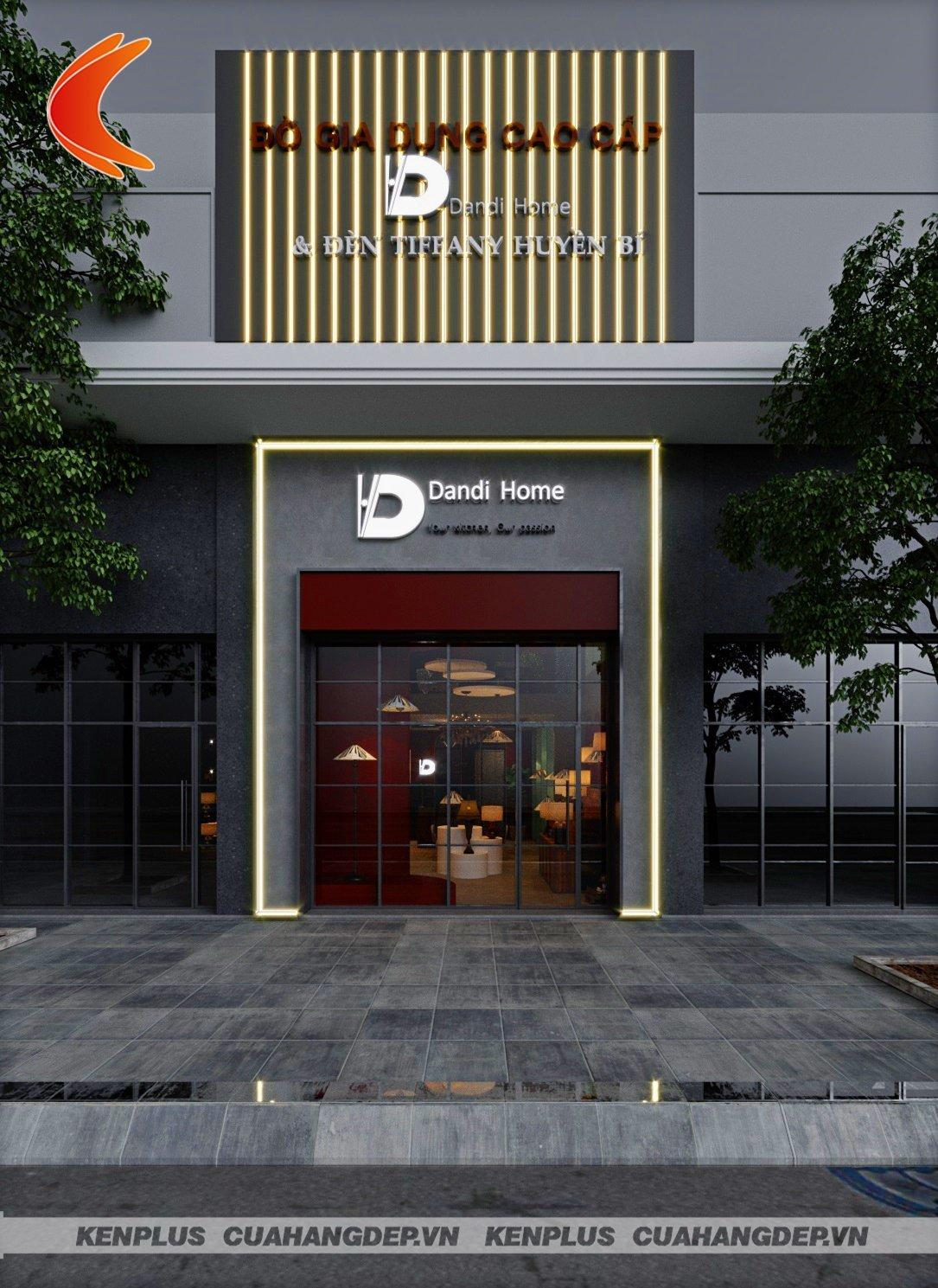Thiết kế showroom đèn Dandi Home hiện đại đầy cuốn hút