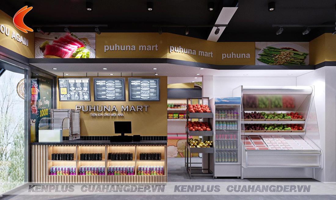 Thiết kế siêu thị tiện ích Puhuna Mart