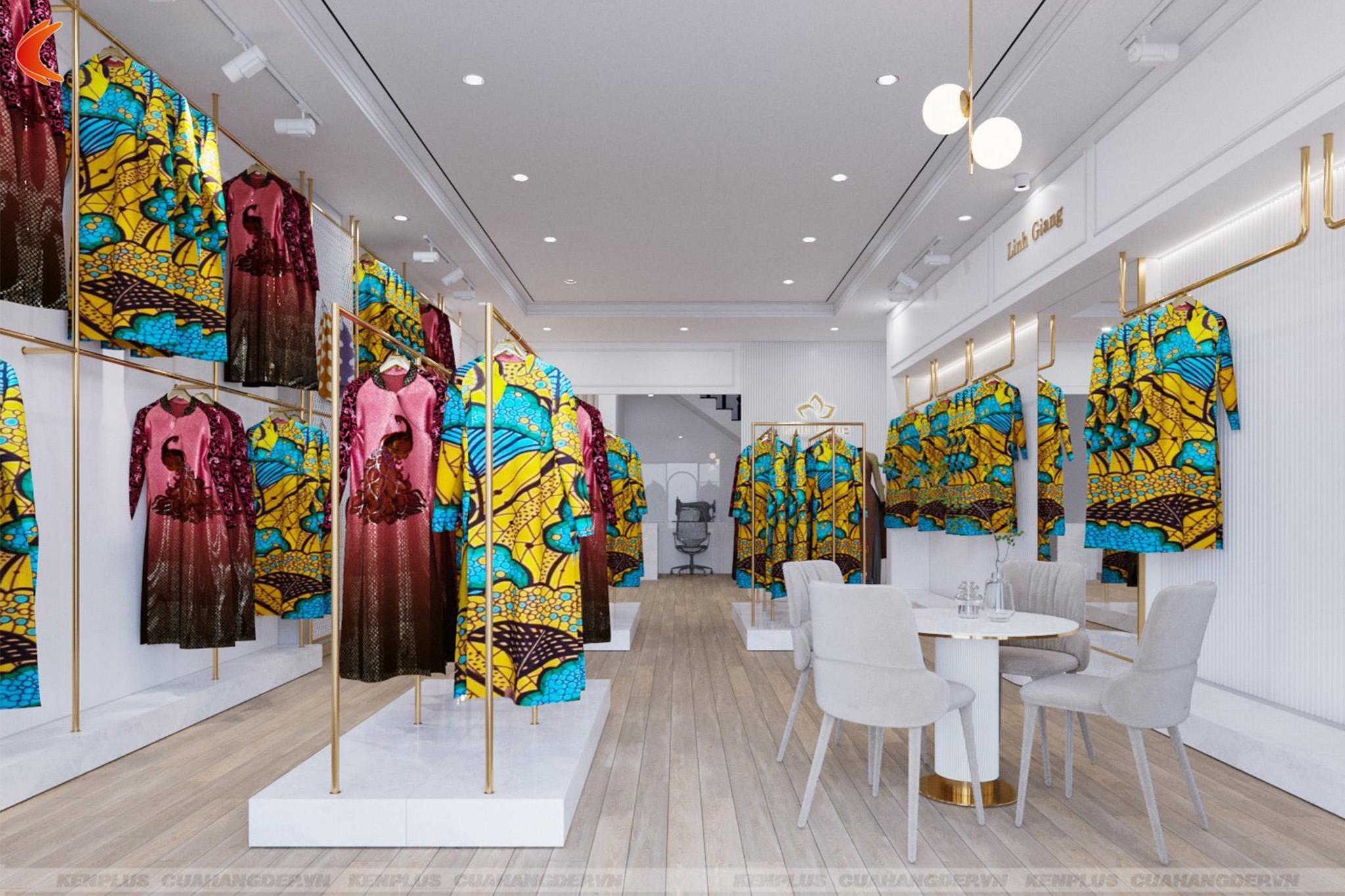 Thiết kế tiệm áo dài Linh Giang tại Việt Trì