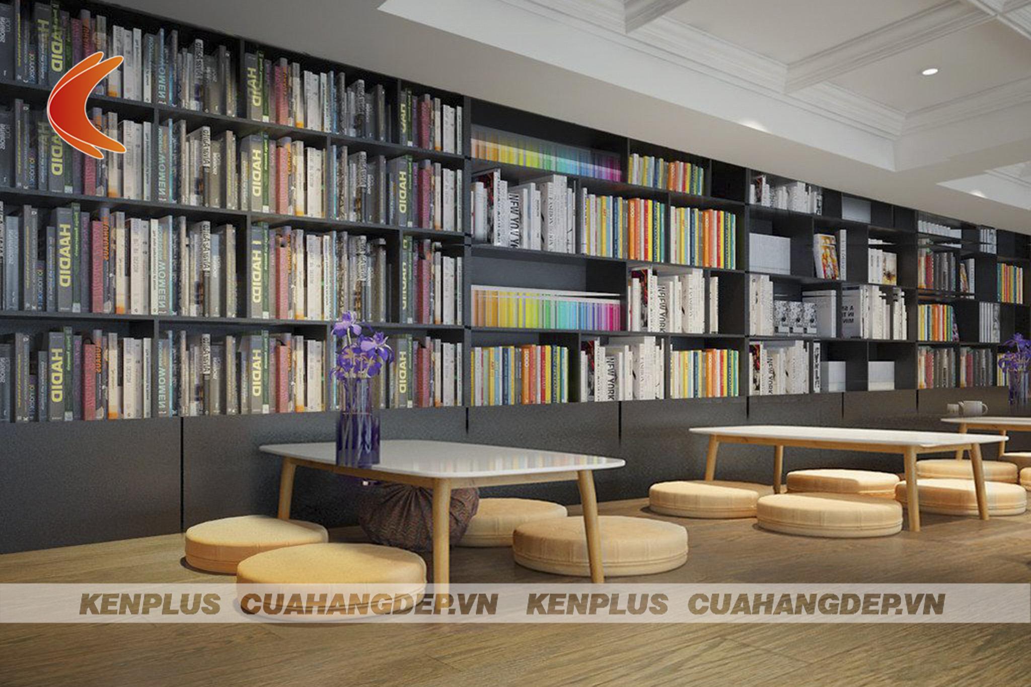 thiết kế cửa hàng sách mini đảm bảo kệ sách tôi ưu hoá