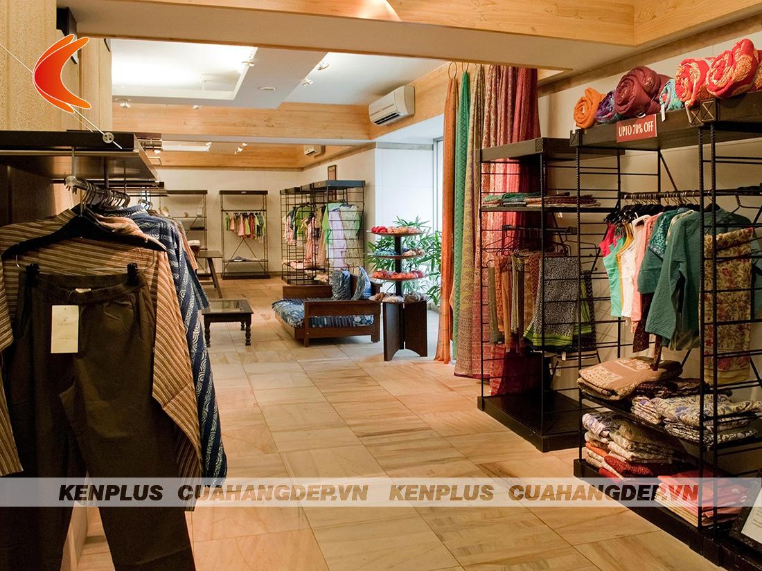 thiết kế shop quần áo nữ phong cách tối giản
