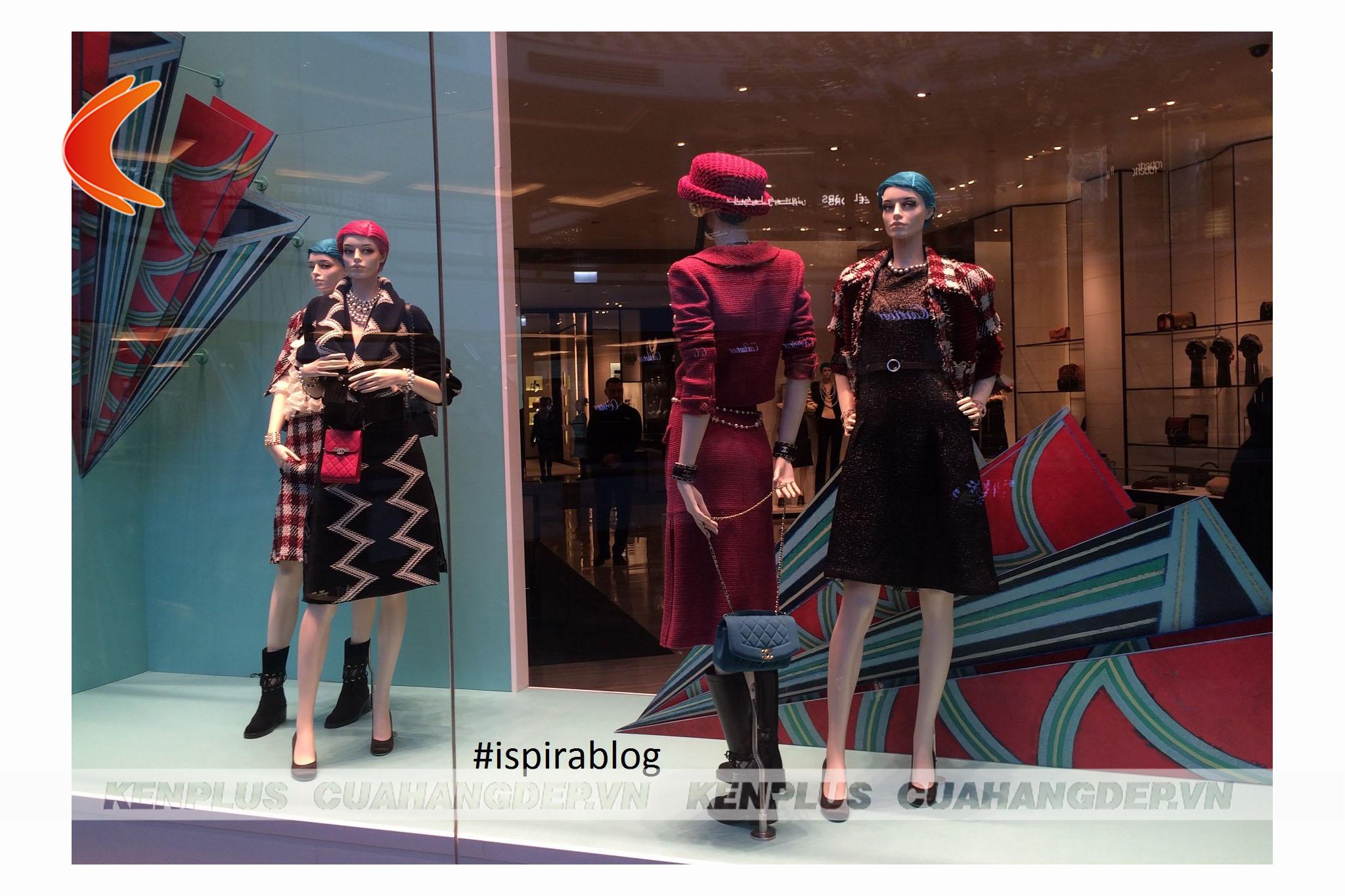 Window display mang đặc trưng bộ sưu tập