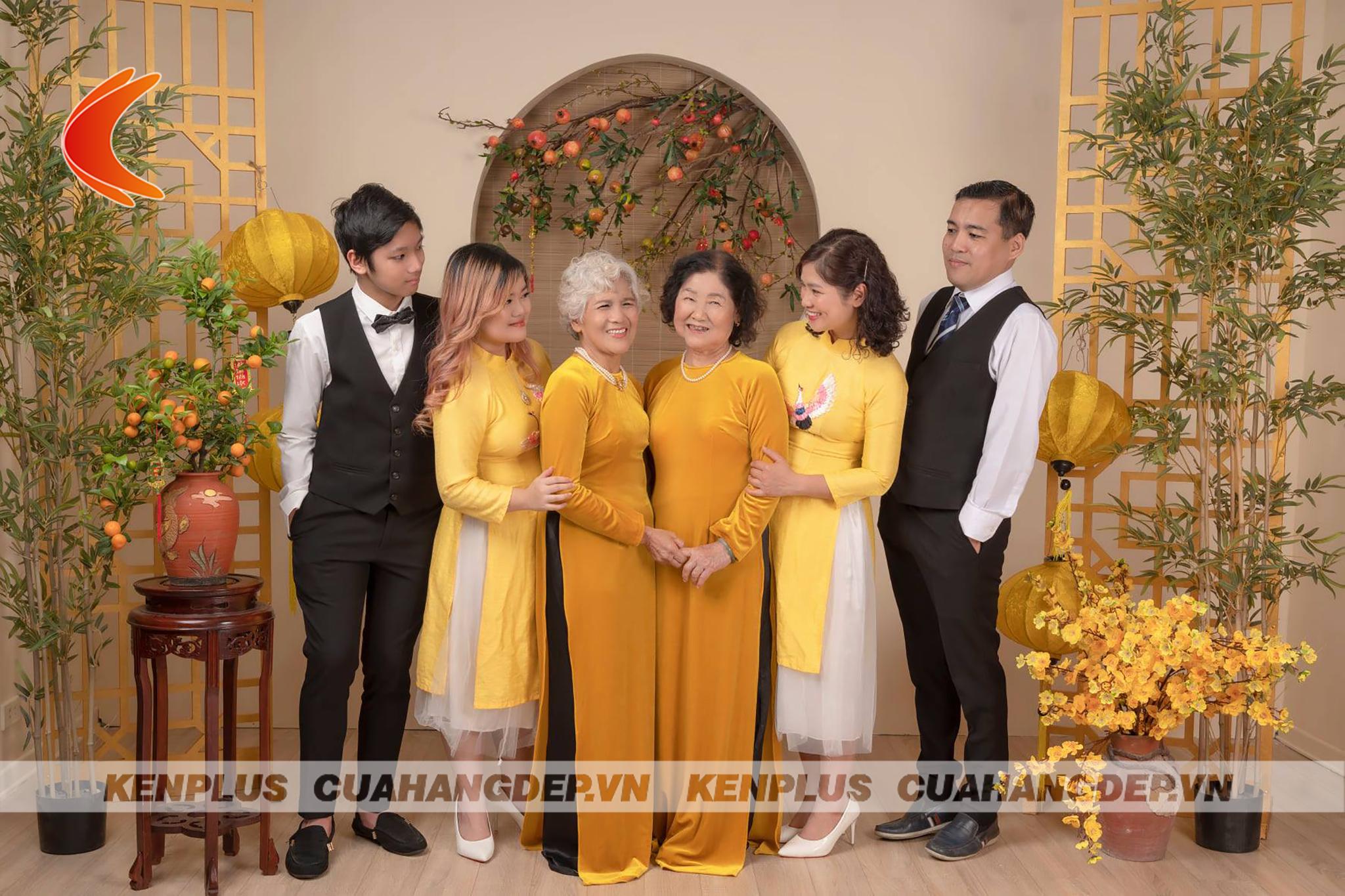 Tone vàng cam khá phổ biến trong thiết kế studio chụp ảnh ảnh gia đình và bé