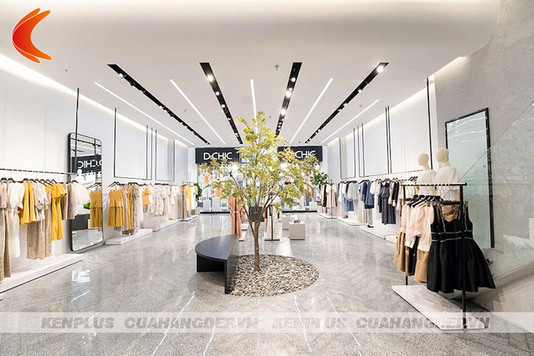 thiết kế shop quần áo phong cách hiện đại, sang trọng