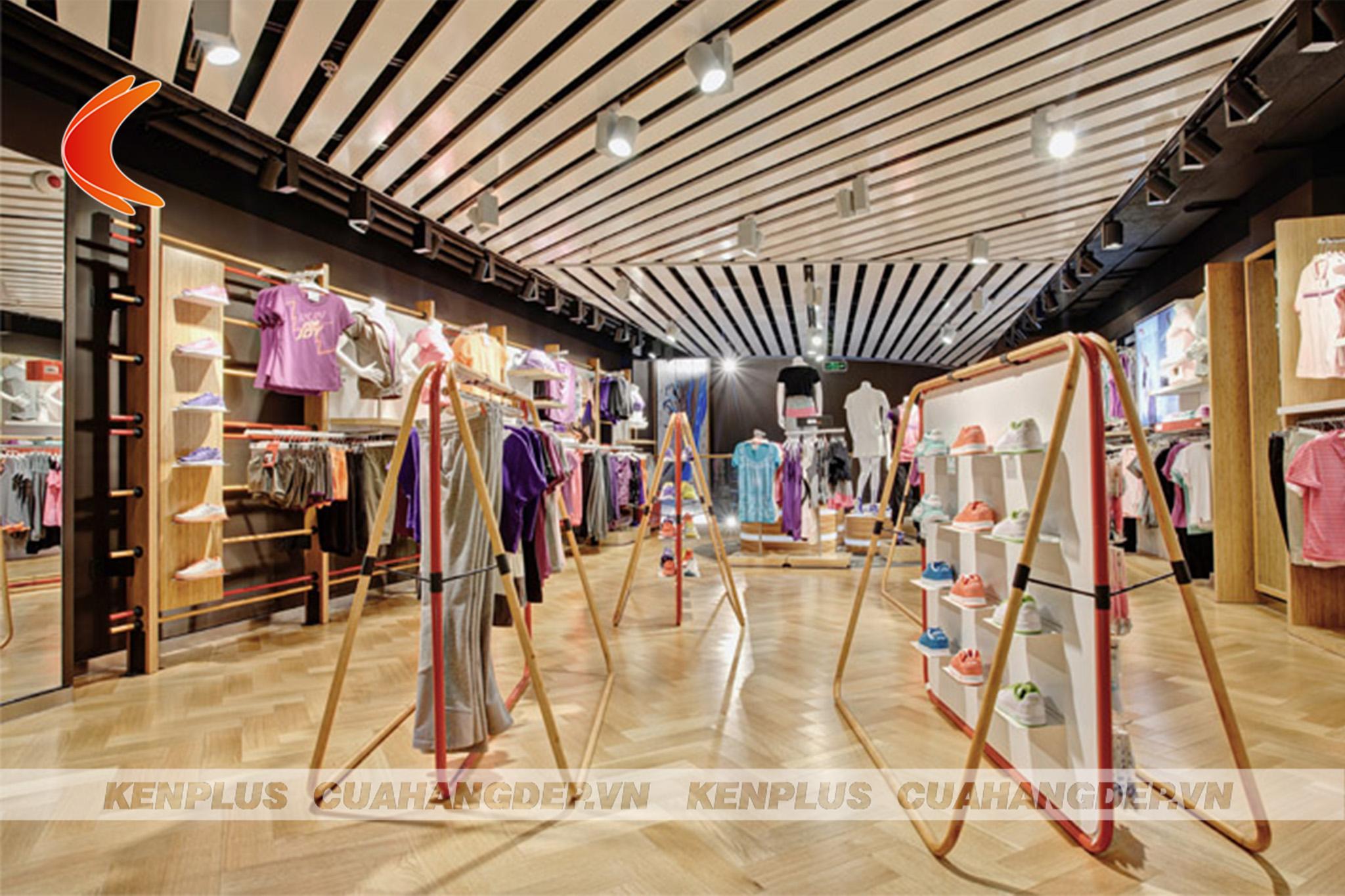 thiết kế shop quần áo thể thao 3