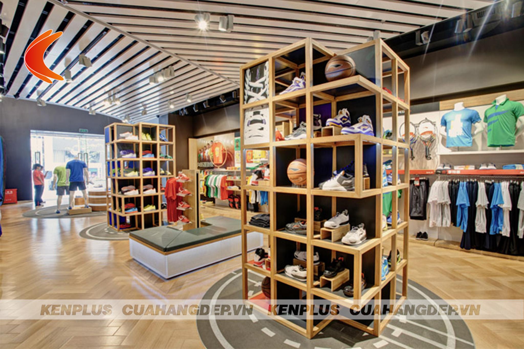thiết kế shop quần áo thể thao 4