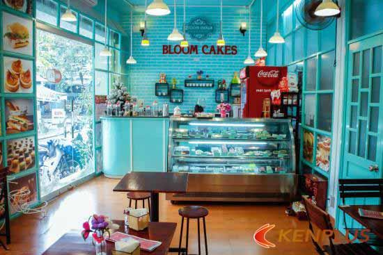 thiết kế tiệm bánh kem