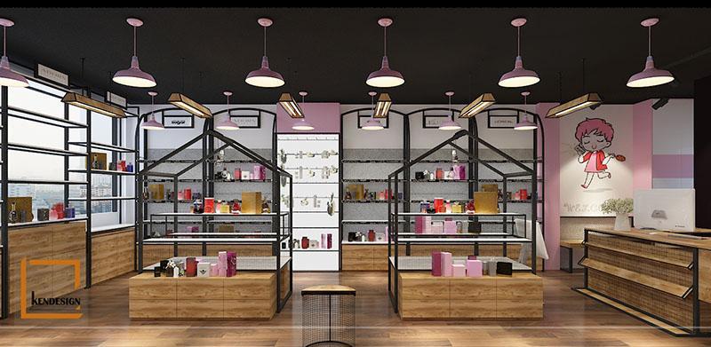 thiết kế cửa hàng mỹ phẩm