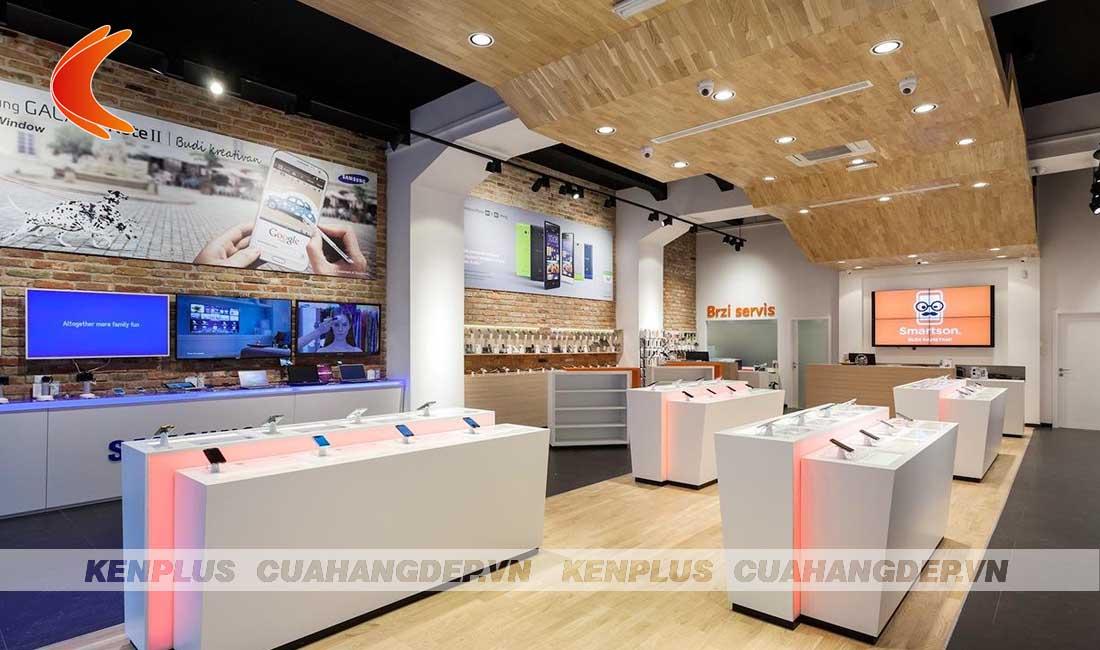 Lên ý tưởng thiết kế cửa hàng bán điện thoại